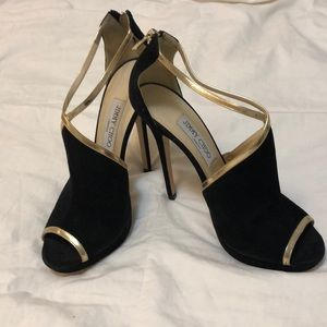 EUC Auth. Jimmy Choo Peep Toe Black Stiletto